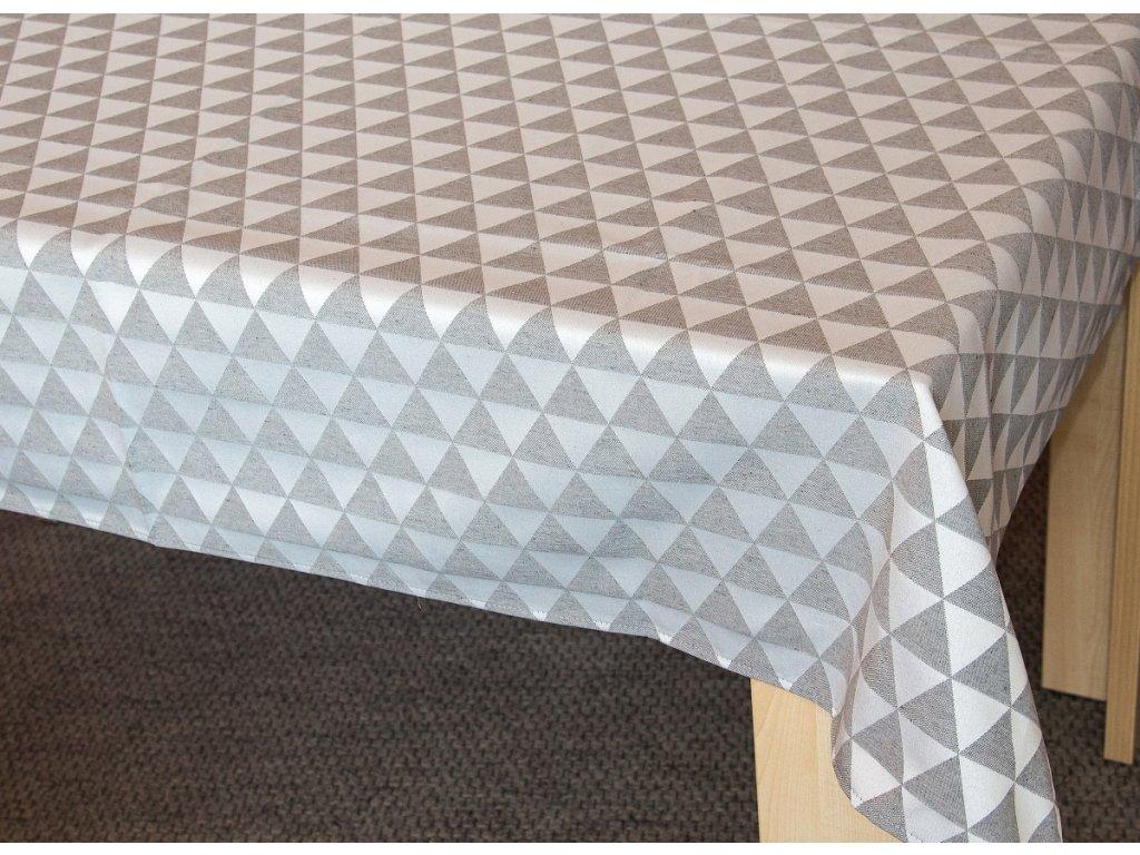 Žakárový ubrus - Ema šedá