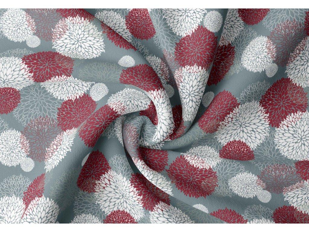 Zatemňovací závěs hotový - magnolie modrá