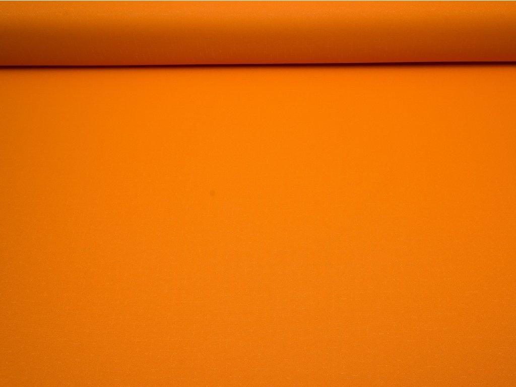 Látka s nešpinivou úpravou šíře 160 cm, oboustranná - oranžová