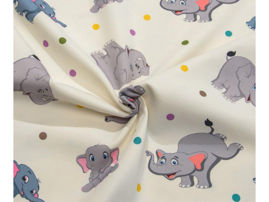 Dekorační látka - Sonja sloníci