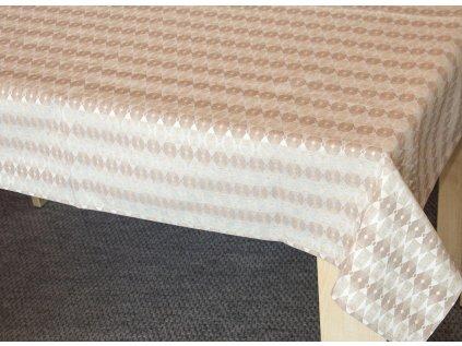 Žakárový ubrus - Eva béžová
