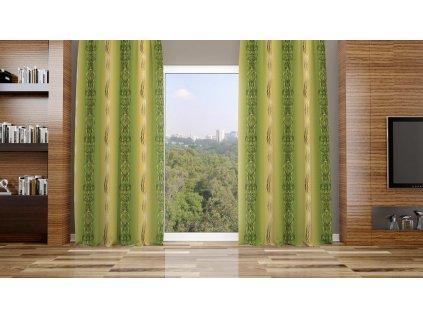 Zatemňovací látka na závěsy šíře 150cm - copy zelené