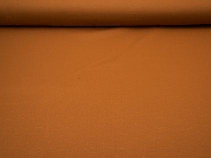 Látka s nešpinivou úpravou šíře 160 cm, oboustranná - skořicová