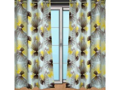 Black out vějířky žluté - AKCE - kus 1,10m