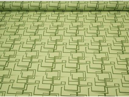 Látka s nešpinivou úpravou šíře 160 cm, skoby zelené