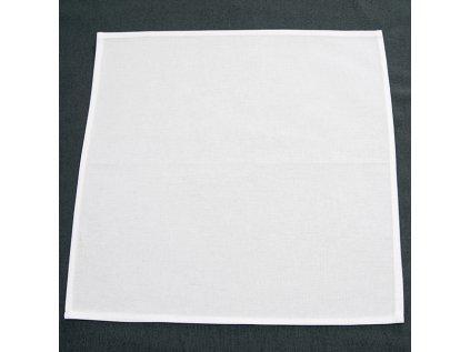 ubrus 100% bavlna - bílá prostírka 40x40