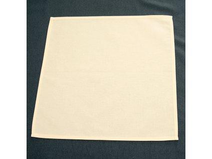 ubrus 100% bavlna - smetanová prostírka 40x40