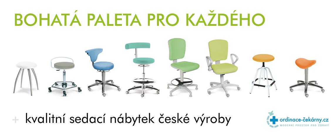 Lékařské židličky - návštěvní, pracovní i vyšetřovací