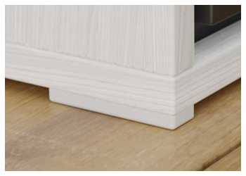 Nábytkový kluzák výšky 2 mm. Chrání korpus proti vlhkosti či rozlité vodě a umožňuje lepší přesun po podlaze