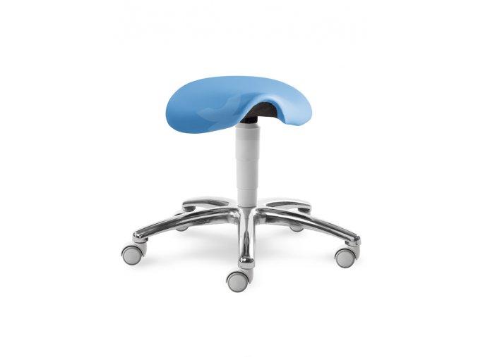 Zdravotnická sedlová stolička MEDI 1207 G (Barva sedáku ATLANTA - 26 T4, Typ koleček Měkká na tvrdé podlahy (standard), Výška pístu Nižší píst, 46-59 cm (standard))