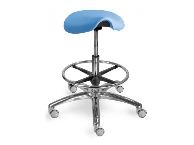 Zdravotnická sedlová stolička MEDI 1207 G Dent (Barva sedáku ATLANTA - 26 T4, Typ koleček Měkká na tvrdé podlahy (standard))
