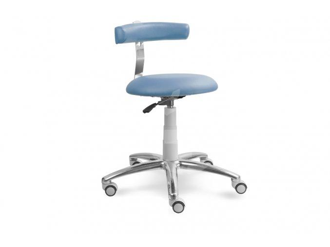 Zdravotnická stolička s opěrkou MEDI 1240 (Barva sedáku ATLANTA - 26 T4, Typ koleček Měkká na tvrdé podlahy (standard), Výška pístu Nižší píst, 46-59 cm (standard))