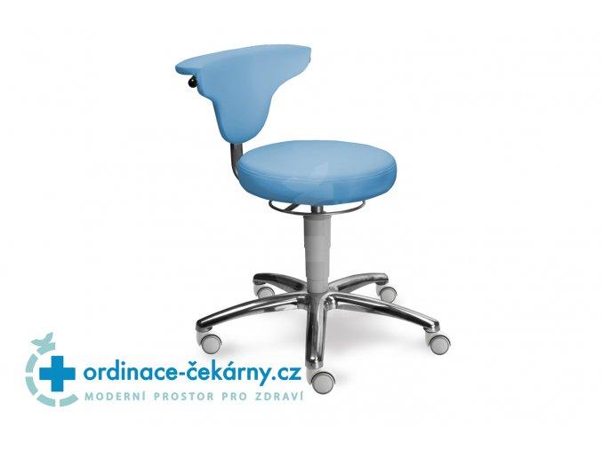 Stolička s otočnou opěrkou MEDI 1251 Med (Barva sedáku ATLANTA - 26 T4, Typ koleček Měkká na tvrdé podlahy, Výška pístu Nižší píst, 46-59 cm)