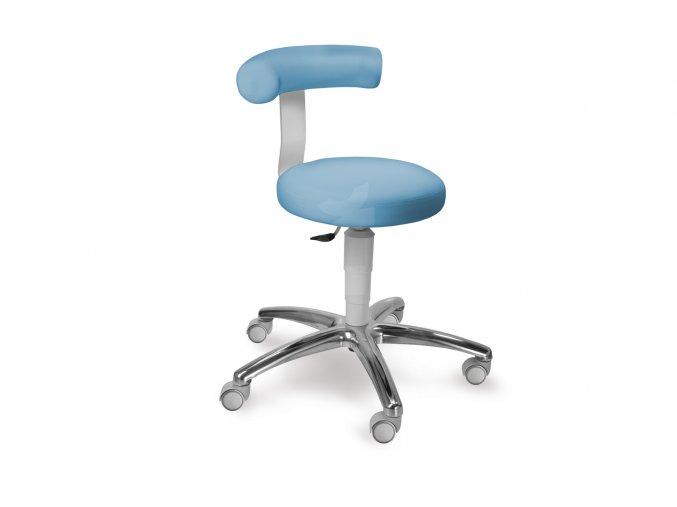 Zdravotnická stolička otočná se zádovou opěrkou MEDI 1283 G Med (Barva sedáku ATLANTA - 26 T4, Typ koleček Měkká na tvrdé podlahy (standard), Výška pístu Nižší píst, 46-59 cm (standard))