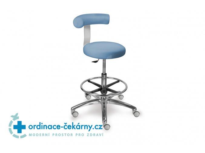 Stolička vysoká otočná se zádovou opěrkou MEDI 1283 G Dent (Barva sedáku ATLANTA - 26 T4, Typ koleček Měkká na tvrdé podlahy)