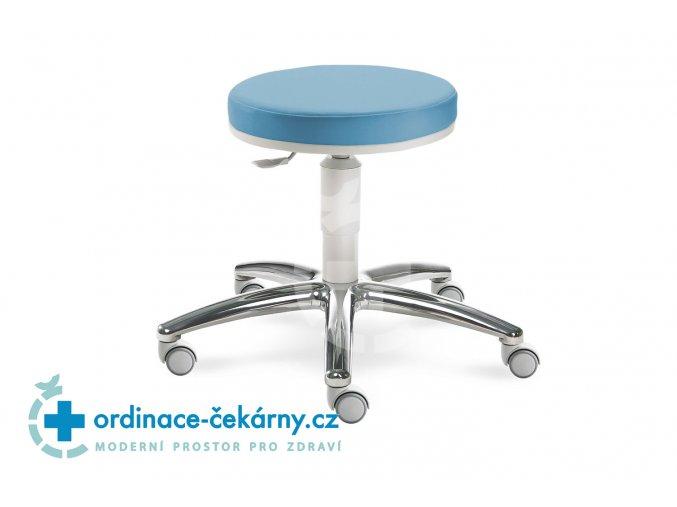 Zdravotnická vyšetřovací židlička MEDI 1256 G (Barva sedáku ATLANTA - 26 T4, Typ koleček Tvrdá na kobercové podlahy (+ 220 Kč), Výška pístu Nižší píst, 46-59 cm (standard))