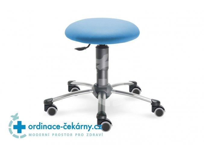 Zdravotnická vyšetřovací stolička MEDI 1250 (Barva sedáku ATLANTA - 26 T4, Typ koleček Tvrdá na kobercové podlahy (+ 220 Kč), Výška pístu Nižší píst, 46-59 cm (standard))