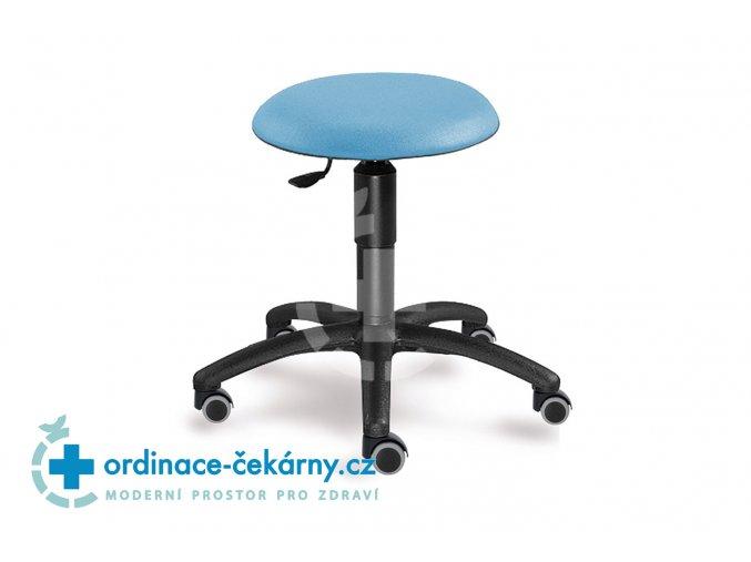 Zdravotnická vyšetřovací stolička MEDI 1282 S (Barva sedáku ATLANTA - 26 T4, Typ koleček Tvrdá na kobercové podlahy (+ 220 Kč))