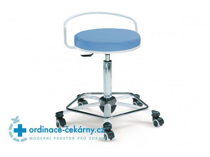 Zdravotnická vyšetřovací židlička MEDI 1254 G (Barva sedáku ATLANTA - 26 T4, Typ koleček Tvrdá na kobercové podlahy (+ 220 Kč))