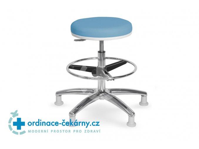Zdravotnická vyšetřovací židlička MEDI 1205 G (Barva sedáku ATLANTA - 26 T4, Typ koleček Kluzáky (standard))