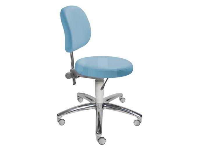 Zdravotnická židle s kulatým sedákem MEDI 1255 G (Barva sedáku ATLANTA - 26 T4, Typ koleček Měkká na tvrdé podlahy (standard), Výška pístu Nižší píst, 46-59 cm (standard))