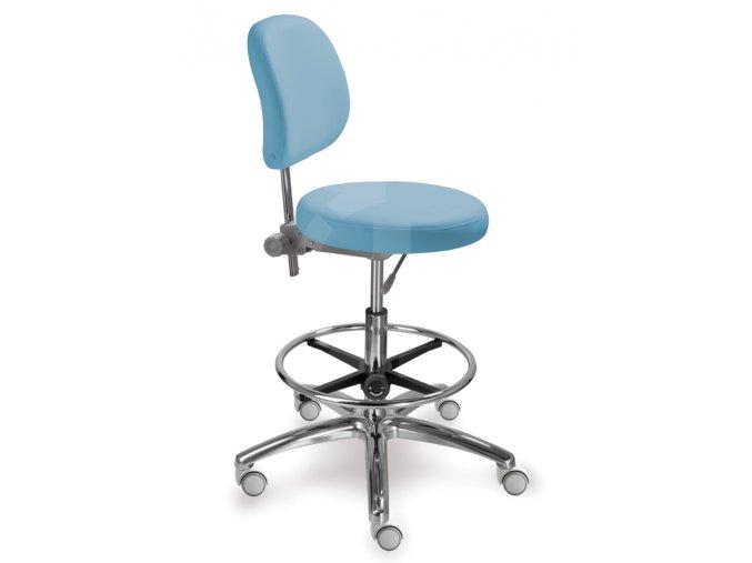 Zdravotnická židle s kulatým sedákem MEDI 1255 G Dent (Barva sedáku ATLANTA - 26 T4, Typ koleček Měkká na tvrdé podlahy (standard))