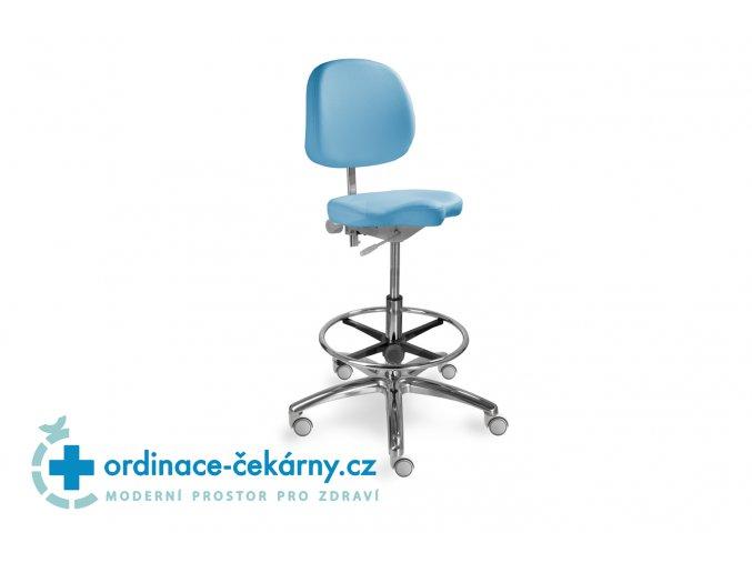 Zdravotnická židle pro přední sezení MEDI 1258 G Dent (Barva sedáku ATLANTA - 26 T4, Typ koleček Měkká na tvrdé podlahy)