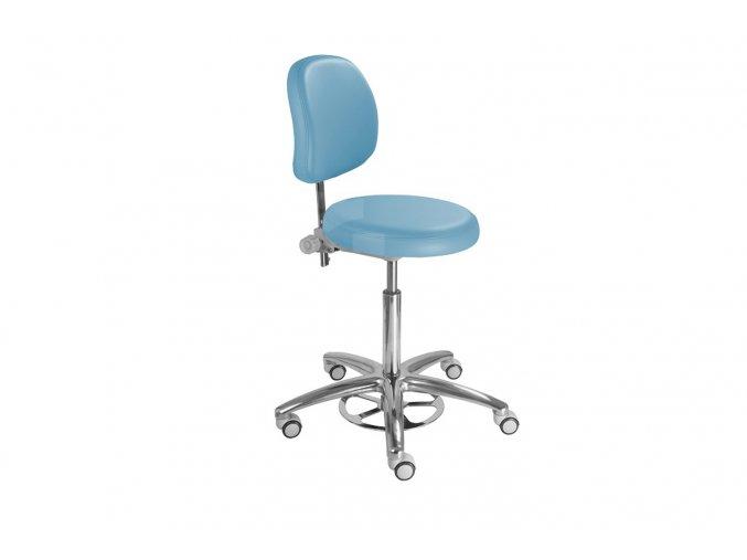 Zdravotnická židle s nožním mechanismem MEDI 1255 G Clean (Barva sedáku ATLANTA - 26 T4, Typ koleček Měkká na tvrdé podlahy)