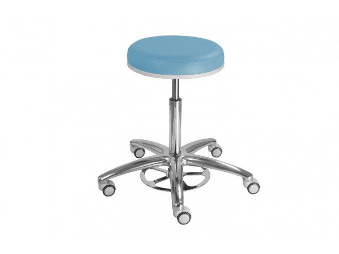 Vyšetřovací stolička se speciálním nožním mechanismem MEDI 1256 G Clean (Barva sedáku ATLANTA - 26 T4, Typ koleček Měkká na tvrdé podlahy)