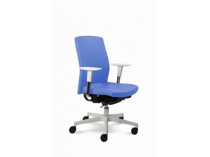 Zdravotnické otočné křeslo MEDI 2303 (Barva krytu zad a kříže Bílá (+ 370 Kč), Barva sedáku KUBA - 26 492, Područky Područky (+ 1200 Kč))