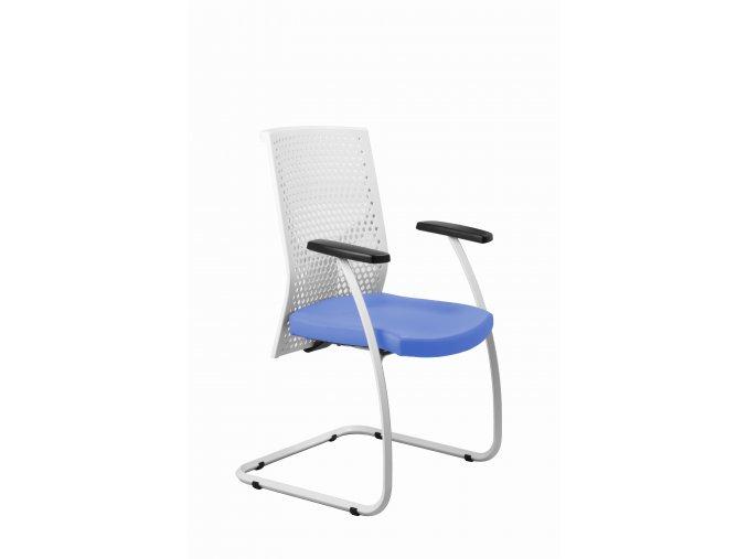 Zdravotnická návštěvní židle MEDI 251 (Barva zad Černá, Barva sedáku ATLANTA - 26 T4, Podnož Černá)
