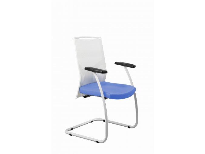 Zdravotnická návštěvní židle MEDI 252 (Barva zad Černá, Barva sedáku ATLANTA - 26 T4, Podnož Černá)
