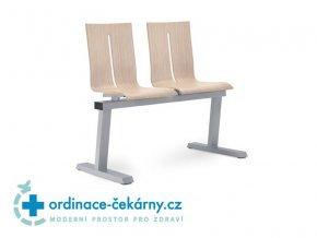 Dvojlavice Twist 221/2 (Dřevina sedáku BSV - Buk světlý, Kostra Ocelová - efekt hliník (+ 500 Kč))
