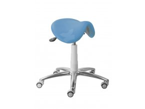 Zdravotnická sedlová stolička MEDI 1213 G (Barva sedáku ATLANTA - 26 T4, Typ koleček Měkká na tvrdé podlahy (standard), Výška pístu Nižší píst, 46-59 cm (standard))