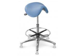 Zdravotnická sedlová stolička MEDI 1213 G Dent (Barva sedáku ATLANTA - 26 T4, Typ koleček Měkká na tvrdé podlahy (standard))