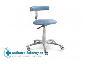 Stolička s opěrkou MEDI 1240 (Barva sedáku ATLANTA - 26 T4, Typ koleček Měkká na tvrdé podlahy, Výška pístu Nižší píst, 46-59 cm)
