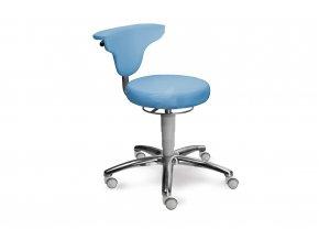 Zdravotnická stolička s otočnou opěrkou MEDI 1251 Med (Barva sedáku ATLANTA - 26 T4, Typ koleček Měkká na tvrdé podlahy (standard), Výška pístu Nižší píst, 46-59 cm (standard))