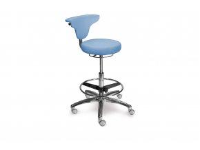 Zdravotnická stolička vysoká s otočnou opěrkou MEDI 1251 Dent (Barva sedáku ATLANTA - 26 T4, Typ koleček Měkká na tvrdé podlahy (standard))