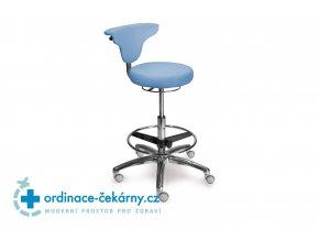 Stolička vysoká s otočnou opěrkou MEDI 1251 Dent (Barva sedáku ATLANTA - 26 T4, Typ koleček Měkká na tvrdé podlahy)