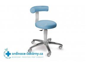 Stolička otočná se zádovou opěrkou MEDI 1283 G Med (Barva sedáku ATLANTA - 26 T4, Typ koleček Měkká na tvrdé podlahy, Výška pístu Nižší píst, 46-59 cm)