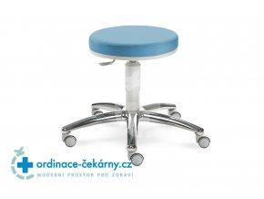Vyšetřovací židlička MEDI 1256 G (Barva sedáku ATLANTA - 26 T4, Typ koleček Tvrdá na kobercové podlahy (+ 220 Kč), Výška pístu Nižší píst, 46-59 cm)