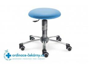 Vyšetřovací stolička MEDI 1250 (Barva sedáku ATLANTA - 26 T4, Typ koleček Měkká na tvrdé podlahy, Výška pístu Nižší píst, 46-59 cm)