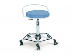 Vyšetřovací židlička MEDI 1254 G (Barva sedáku ATLANTA - 26 T4, Typ koleček Tvrdá na kobercové podlahy (+ 220 Kč))