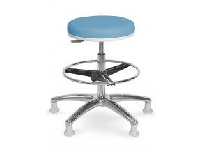 Vyšetřovací židlička MEDI 1205 G (Barva sedáku ATLANTA - 26 T4, Typ koleček Tvrdá na kobercové podlahy)