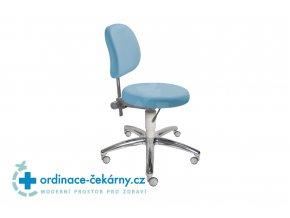 Židle s kulatým sedákem MEDI 1255 G (Barva sedáku ATLANTA - 26 T4, Typ koleček Měkká na tvrdé podlahy, Výška pístu Nižší píst, 46-59 cm)