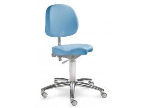 Zdravotnická židle pro přední sezení MEDI 1258 (Barva sedáku ATLANTA - 26 T4, Typ koleček Měkká na tvrdé podlahy (standard), Výška pístu Nižší píst, 46-59 cm (standard))