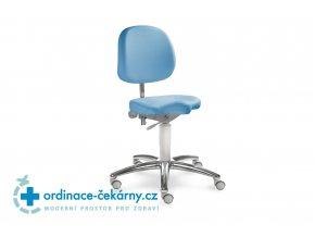 Židle pro přední sezení MEDI 1258 (Barva sedáku ATLANTA - 26 T4, Typ koleček Měkká na tvrdé podlahy, Výška pístu Nižší píst, 46-59 cm)