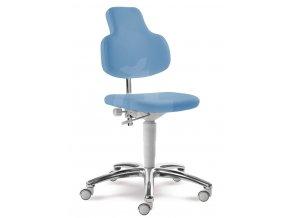 Zdravotnická otočná židle MEDI 2206 G (Barva sedáku COSMA 2019 - 26 F91, Typ koleček Měkká na tvrdé podlahy (standard), Výška pístu Nižší píst, 46-59 cm (standard))