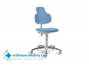 Zdravotnická otočná židle MEDI 2206 G (Barva sedáku COSMA 2019 - 26 F91, Typ koleček Měkká na tvrdé podlahy, Výška pístu Nižší píst, 46-59 cm)