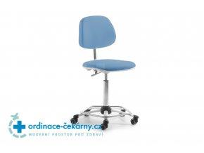 Zdravotnická otočná židle MEDI 2203 (Barva sedáku ATLANTA - 26 T4, Typ koleček Měkká na tvrdé podlahy)